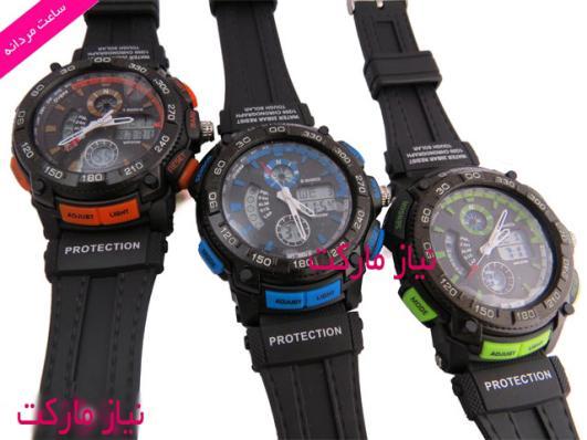 خرید اینترنتی ساعت مچی جی شاک دو زمانه - g-shock model 1113b protection