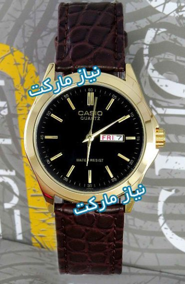 Casio Men's Watches Fashion Leather Gold MTP-1183 ساعت کاسیو بند چرم
