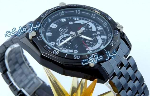 casio edifice ef 550 full black ساعت کاسیو طرح سه موتوره مدل