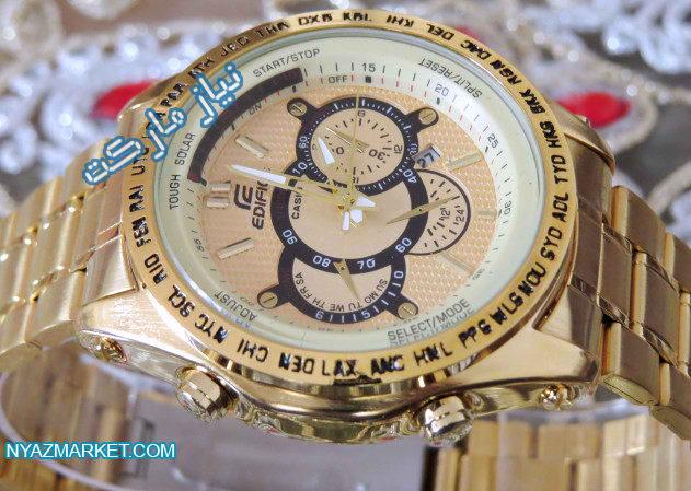 ساعت کاسیو 710 تمام طلایی casio edifice ef