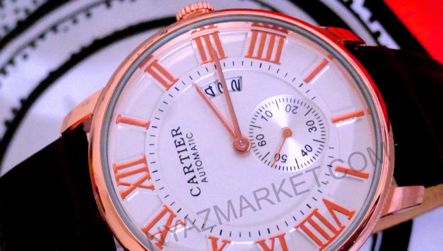 ساعت مچی بند چرم کارتیر CARTIER زیر ثانیه دار اورجینال