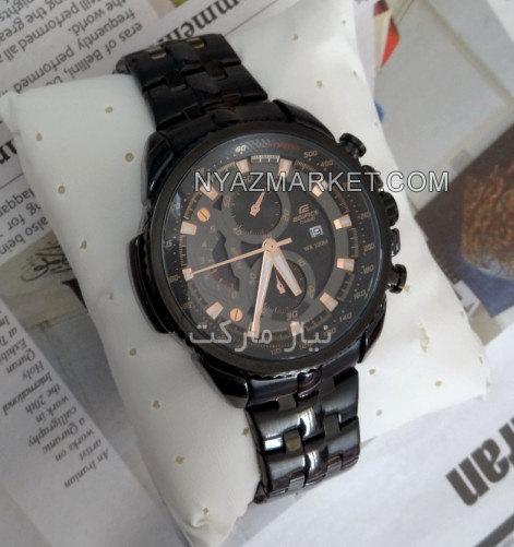 ساعت کاسیو تمام مشکی تیتانیوم مدل EF558