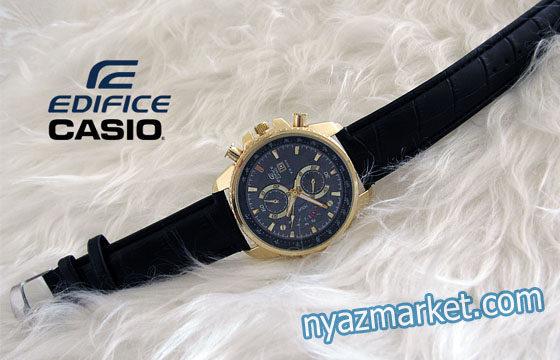 خرید ساعت کاسیو ,ساعت بند چرم EF-508 , کاسیو ادیفایس ,ساعت مردانه چرمی, کاسیو مردانه CASIO EDIFICE EF 508,کاسیو مدل لبخندی,قیمت ساعت
