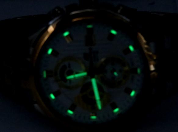 EF-556SG-7AV عکس و تصاویر ساعت مچی کاسیو سه موتوره دو رنگ اصل و اورجینال