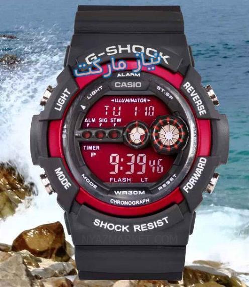 عکس های ساعت پسرانه مردانه ساعت جی شاک اورجینال تک زمانه مدل 2016 سری g-shock gd-100