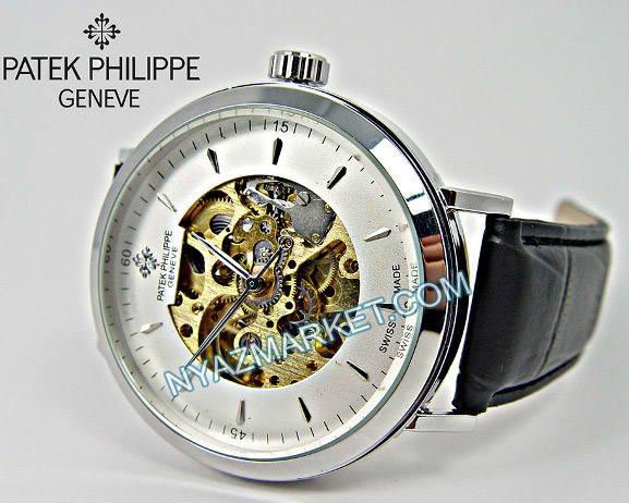 ساعت اتوماتیک بند چرمی پاتک فیلیپ PATEK PHILIPPE