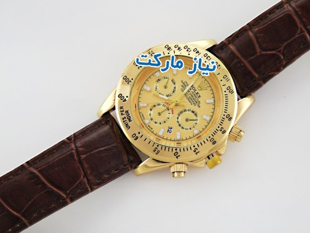 ساعت رولکس,خرید ساعت رولکس ,ساعت مردانه , ساعت بند چرمی , خرید اینترنتی ساعت مچی پسرانه , ساعت طرح سه موتوره , ساعت rolex