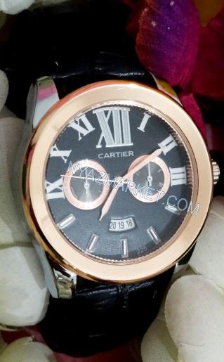 خرید پستی ساعت تقویم دار دور مسی کارتیه cartier مردانه زنانه