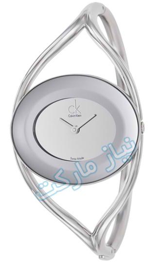 خرید اینترنتی ساعت النگویی جدید زنانه calvin-klein-k1a23708-womens-silver-s