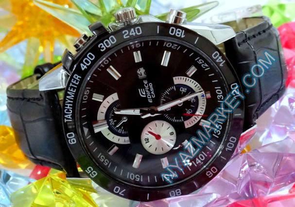 ساعت کاسیو بند چرمی مدل ef520