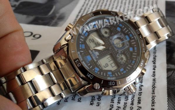 ساعت دو زمانه کاسیو اورجینال مدل CASIO EFA 133 - فروشگاه اینترنتی ساعت کاسیو مردانه پسرانه