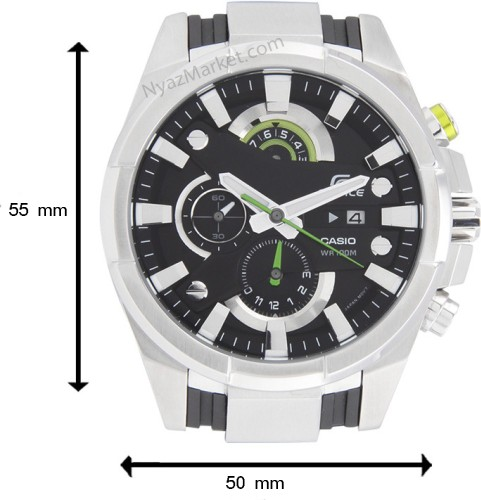 ساعت کاسیو,ساعت مردانه عقربه ای,ساعت کاسیو کرنوگراف,ساعت سه موتوره,فروش ساعت مردانه اصل,ساعت casio edifice efr-540 اورجینال