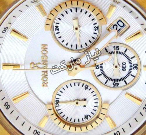 خرید اینترنتی ساعت بند چرم سه موتوره رومانسون برند Romanson 14059L