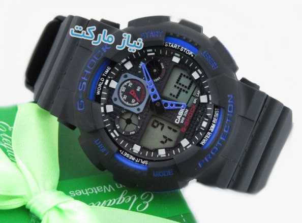 خرید ساعت جی شاک ابی g shock ga 100 blue black