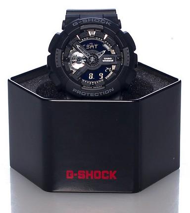 خرید ساعت جی شاک مردانه اورجینال دو زمانه  gshock ga- 110 full black قیمت ارزان