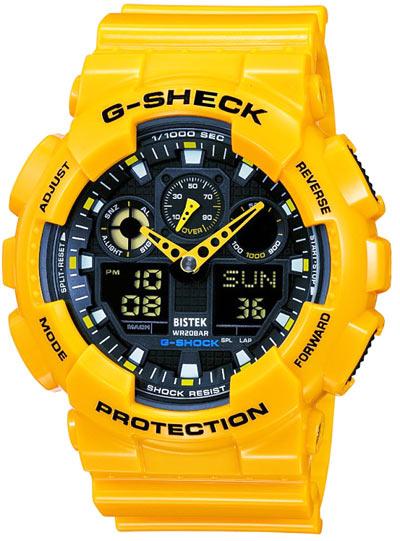 خرید اینترنتی ساعت جی شاک ورزشی کوهنوردی مدل g shock ga 100 رنگ زدر
