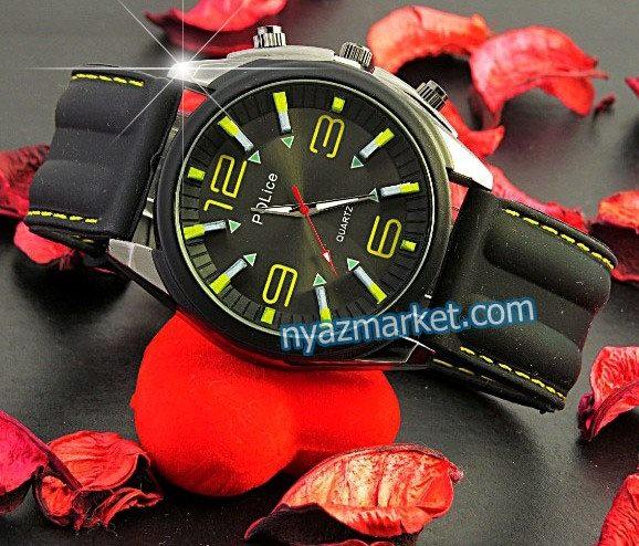 خرید ساعت پلیس , ساعت مردانه پلیس , فروش ساعت عقربه رنگی , ساعت مچی بند پیو , ساعت کوارتز, ساعت عقربه ای police quartz