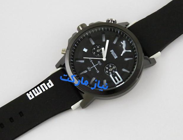 خرید اینترنتی ساعت مچی پوما اعداد رنگی طرح دو موتوره puma bold