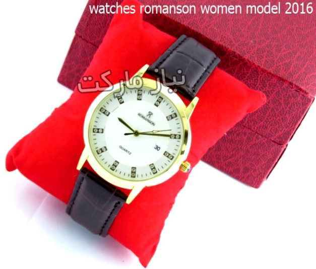 ساعت رومانسون بند چرمی مردانه زنانه romanson-8027g
