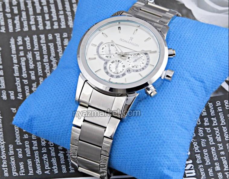 خرید ساعت رومانسون , ساعت مچی ست مردانه زنانه , ساعت تمام استیل , ساعت طرح سه موتوره رومانسون , ساعت romanson , ساعت های کپی