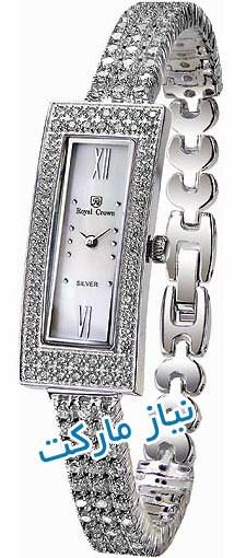 خرید ساعت مچی رویال کرون زنانه طرح مجلسی نقره اصل و اورجینال به قیمت نمایندگی royal crown