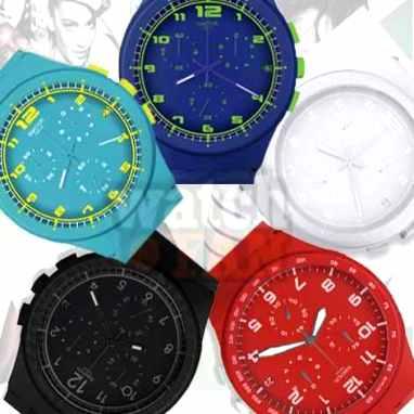 ساعت سواچ پلاستیکی جدید طرح سه موتوره swatch 2014